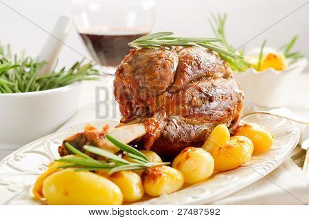 shank with potatoes