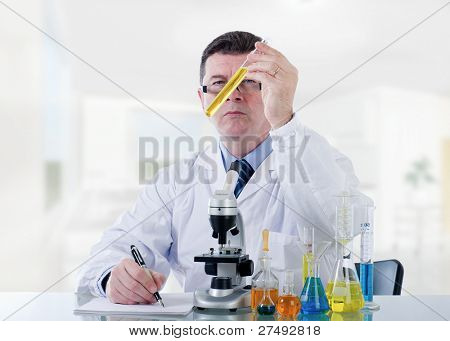 technician working at laboratory