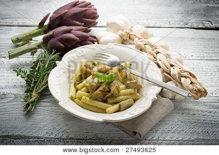 pasta with artichoke