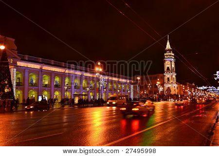 Night of St. Petersburg, Nevsky Prospekt