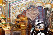 Mosaics Designs Nizamuddin Complex Mosque Interior New Delhi India