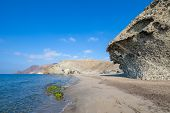 Seaside Of Monsul Beach In Cabo De Gata Natural Park poster