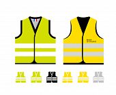 Yellow And Light Green Reflective Vests, As A Symbol Of Protests In France Against Rising Fuel Price poster