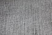 Grey Jeans Texture Background Of Seamless Empty Denim Fabric, Close Up Top View Banner. Blank Gray J poster