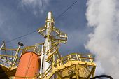 stock photo of biogas  - Steam Rises From A Smokestack On a Factory - JPG