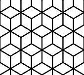 Geometric Pattern. Cube Seamless Pattern. Geometric Line Background poster