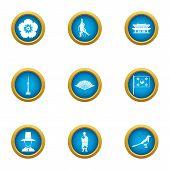 Korean Type Icons Set. Flat Set Of 9 Korean Type Icons For Web Isolated On White Background poster