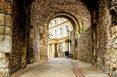 The Entrance And Walkway Outside Of The Lewes Castle & Gardens, East Sussex County Town. The Old Vin poster