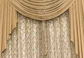 Brown Curtain Background Curtain Curtain Brown Classic Textile, House, Velvet poster