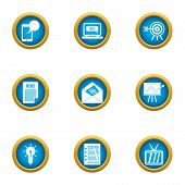 Excellent Idea Icons Set. Flat Set Of 9 Excellent Idea Icons For Web Isolated On White Background poster