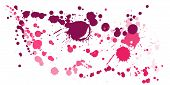 Watercolor Stains Grunge Background Vector. Decorative Ink Splatter, Spray Blots, Dirt Spot Elements poster