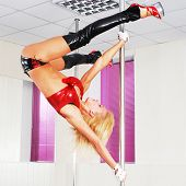 pic of pole dancer  - beautiful dancer on the pole - JPG