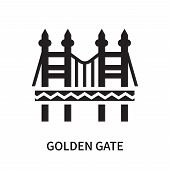 Golden Gate Icon Isolated On White Background. Golden Gate Icon Simple Sign. Golden Gate Icon Trendy poster