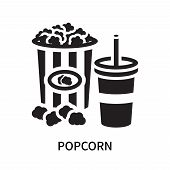Popcorn Icon Isolated On White Background. Popcorn Icon Simple Sign. Popcorn Icon Trendy And Modern  poster
