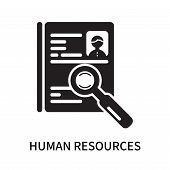 Human Resources Icon Isolated On White Background. Human Resources Icon Simple Sign. Human Resources poster