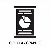 Circular Graphic Icon Isolated On White Background. Circular Graphic Icon Simple Sign. Circular Grap poster