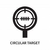 Circular Target Icon Isolated On White Background. Circular Target Icon Simple Sign. Circular Target poster