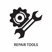 Repair Tools Icon Isolated On White Background. Repair Tools Icon Simple Sign. Repair Tools Icon Tre poster