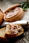 pate' de campagne with homemade bread