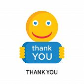Thank You Icon Isolated On White Background. Thank You Icon Simple Sign. Thank You Icon Trendy And M poster