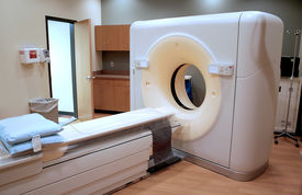 foto of medical equipment  - Modern CT scan equipment in an hospital - JPG