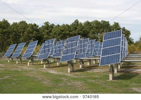 Field Of Solar Panels