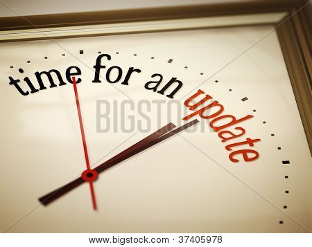 An image of a nice clock with time for an update
