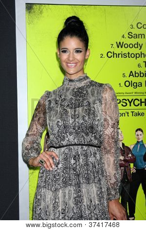 "LOS ANGELES - OCT 30:  Jessica Clark  at the ""Seven Psychopaths"" Premiere at Bruin Theater on October 30, 2012 in Westwood, CA"
