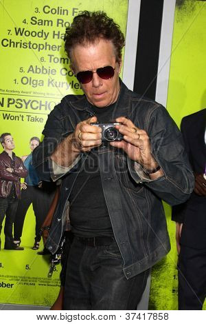 "LOS ANGELES - OCT 30:  Tom Waits  at the ""Seven Psychopaths"" Premiere at Bruin Theater on October 30, 2012 in Westwood, CA"