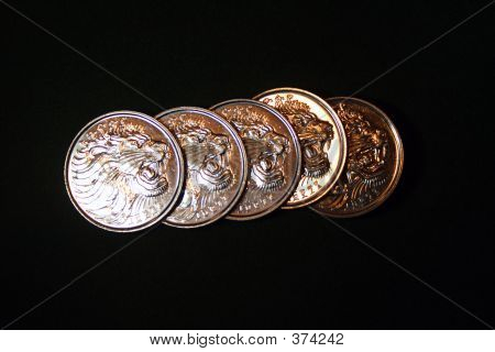 Five Ethiopian Coins