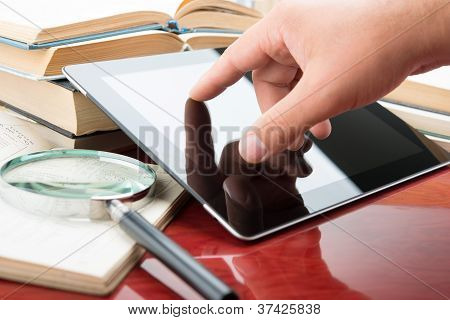 Books And Tablet Pc