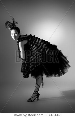 Model Wearing Beatle Shape Fashion