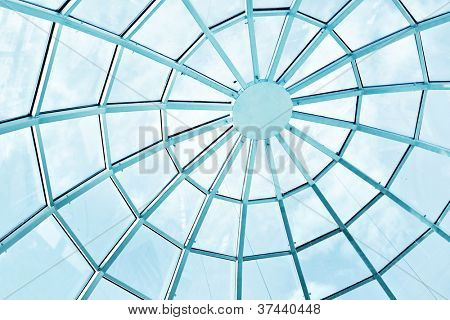 Beautiful glass roofing texture