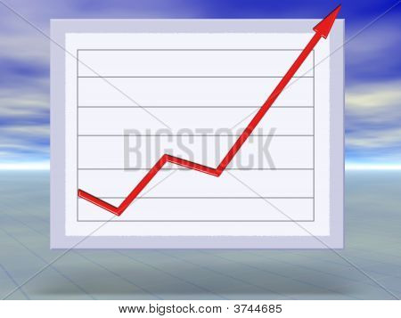 Business Success And Growth Graph Concept Illustration