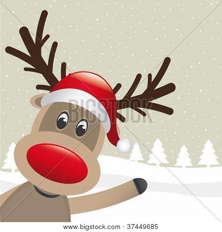 Reindeer Red Nose Wave