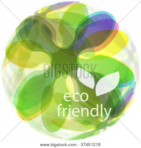 ECO FRIENDLY. Abstract vector illustration.