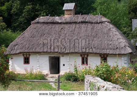 Old 19 century house in Ukraine,mid-19th century