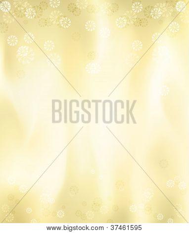 Gold Metal Christmas Card