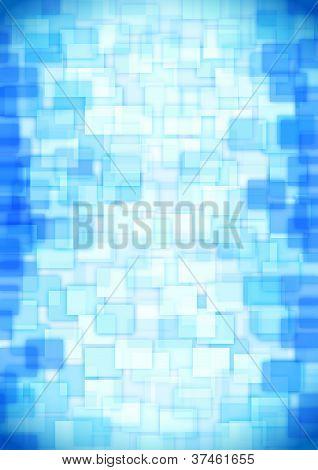 glass blue squares