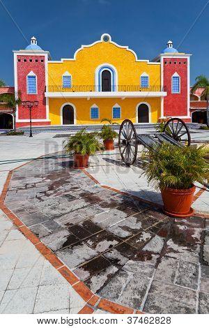 Mexican Hacienda In The Mayan Riviera