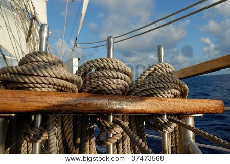 Tackle sailing ship