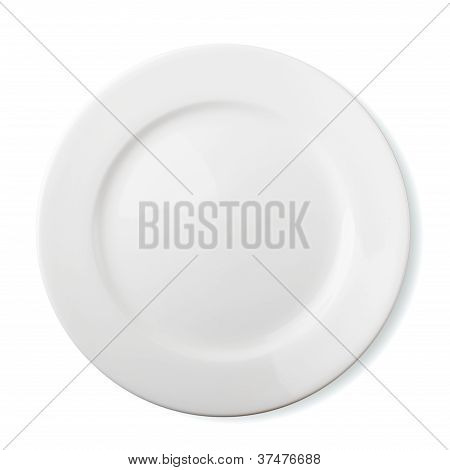 Empty Plate Isolated