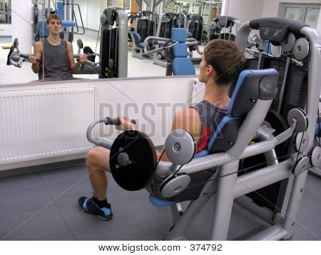 Man In Health Club