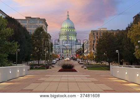 State capitol building, Madison.