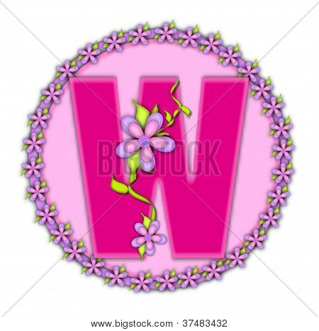 Alphabet Daisy Chain W