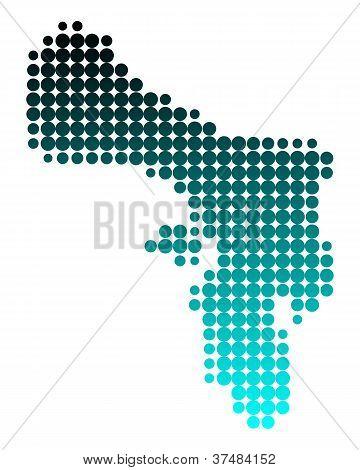 Karte von bonaire