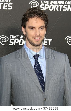 LOS ANGELES - OCT 1: Pau Gasol at the Time Warner Sports Launch of TWC Sportsnet and TWC Deportes Networks at TWC Sports Studios on October 1, 2012 in El Segundo, California