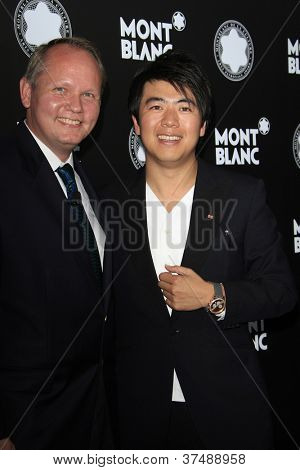 LOS ANGELES - OCT 2: Jan Patrick Schmitz, Lang Lang at the Montblanc 2012 Montblanc De La Culture Arts Gala honoring Quincy Jones at Chateau Marmont on October 2, 2012 in Los Angeles, California