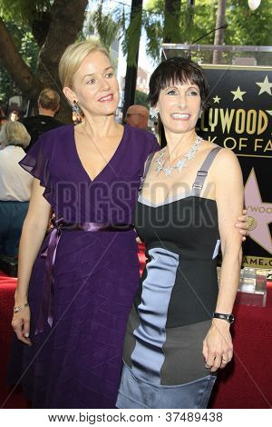 LOS ANGELES - OCT 3: Penelope Ann Miller, Gale Anne Hurd at a ceremony as Gale Anne Hurd is honored with a star on the Hollywood Walk of Fame on October 3, 2012 in Los Angeles, California