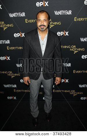 NEW YORK-OCT 3: Actor Jeffrey Wright attends 'Everything Or Nothing: The Untold Story Of 007' premiere at the Museum of Modern Art on October 3, 2012 in New York City